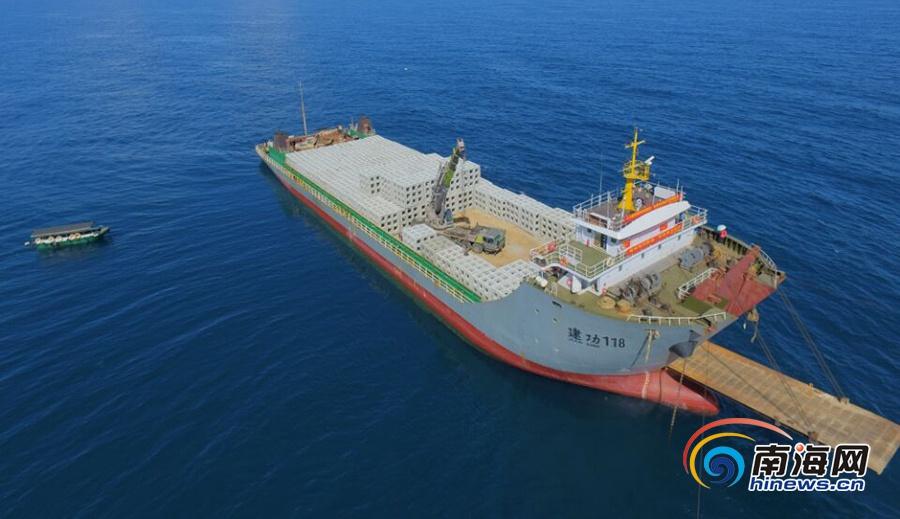 文昌冯家湾海洋牧场建设项目投放人工鱼礁