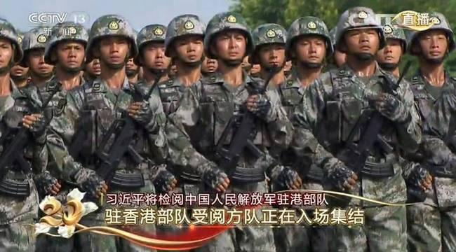 图为30日,中国人民解放军驻香港部队石岗营区现场。