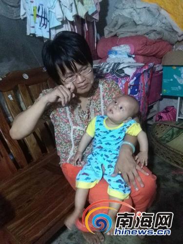 <b>7个月大女婴被诊断为脑瘫海口坚强母亲放弃工作带女赴京求医</b>