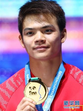 (游泳世锦赛)(3)跳水�D�D男子1米板:彭健烽、何超包揽冠亚军