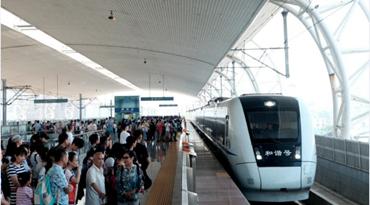 动车地铁旅客实现同台交互换乘