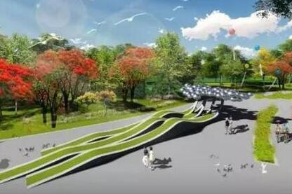 抱坡溪湿地公园分四区建设 预计明年2月完工