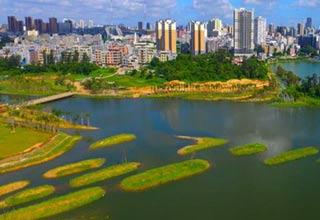 凤翔公园美景如画 核心区建成对外开放