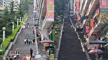 重庆又一建筑火了:超级长步梯