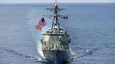 美海军驱逐舰与商船相撞事致10人失踪