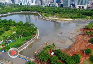 瞰海南 | 航拍生态修复中的海口万绿园