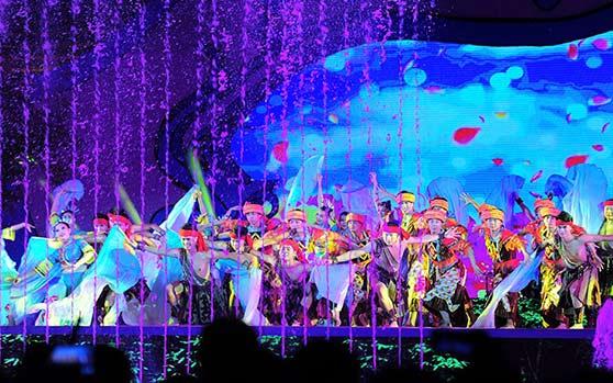 海南七仙温泉嬉水节大型民族歌舞晚会在保亭震撼上演