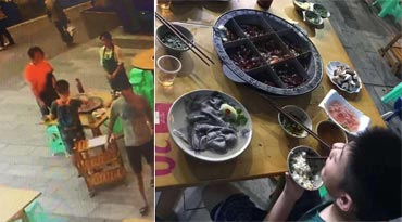 重庆8岁男童独吃一桌火锅 4个位置转圈吃 他的心酸你不懂