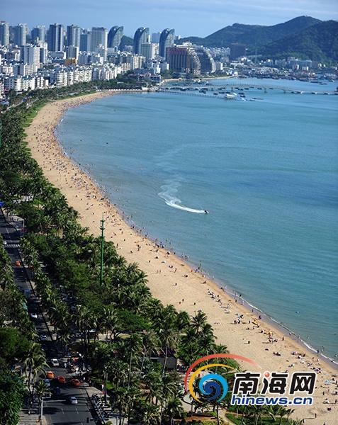 三亚划定5个公共海水浴场 分流旅游旺季时游客量