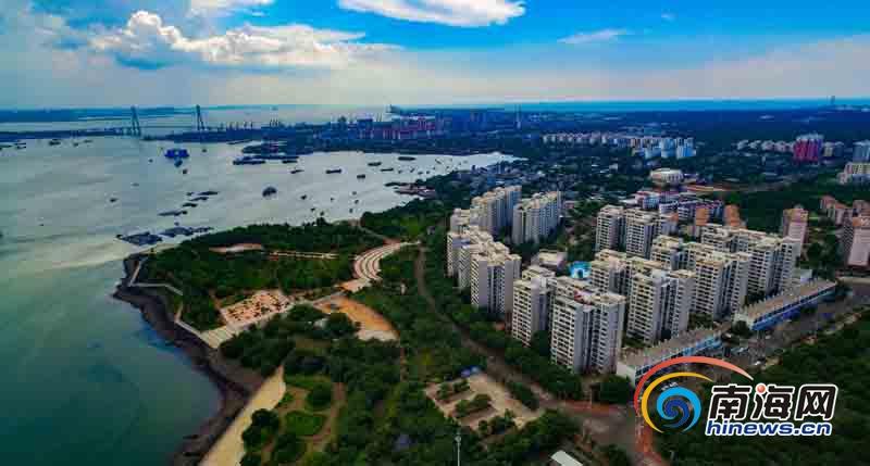 航拍 | 洋浦滨海公园建成万人应急避难场所