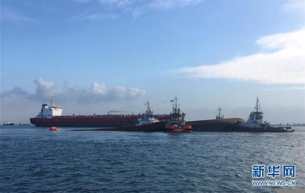 (XHDW)新加坡海域一挖沙船倾覆 4名中国籍船员失踪