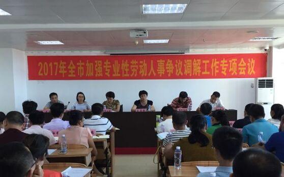 文昌召开加强专业性劳动人事争议调解工作会议