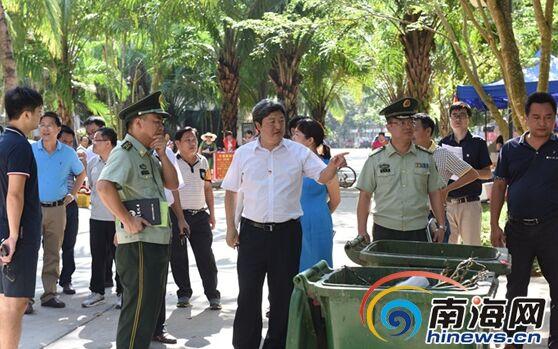 五指山市委书记宋少华检查双创责任片区环境卫生
