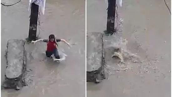 辟谣| 海口暴雨学生掉进下水道视频发布者道歉了