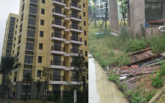 屯昌龙溪小区400套公租房逾期3年未交房 施工方:预计2018年1月交付