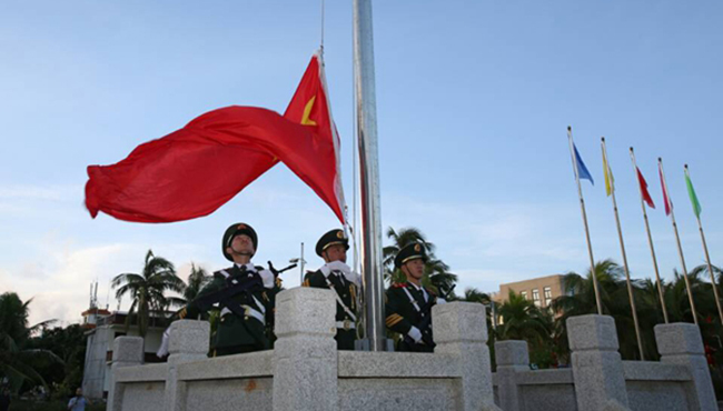 三沙举行升国旗仪式庆祖国华诞