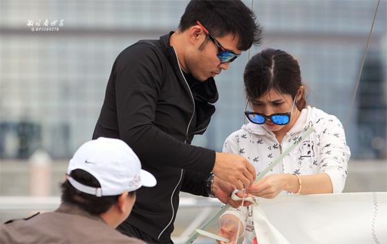 2017威波特尔休闲运动帆船赛在万宁石梅湾举行