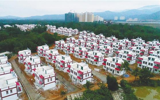 整村推进美丽乡村建设 白沙南班村200栋别墅落成