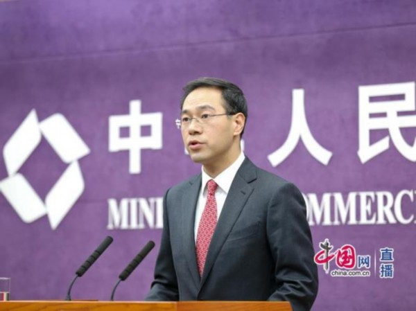 商务部新闻发言人高峰(中国网 张钰 摄)-商务部 明年将举办首届中