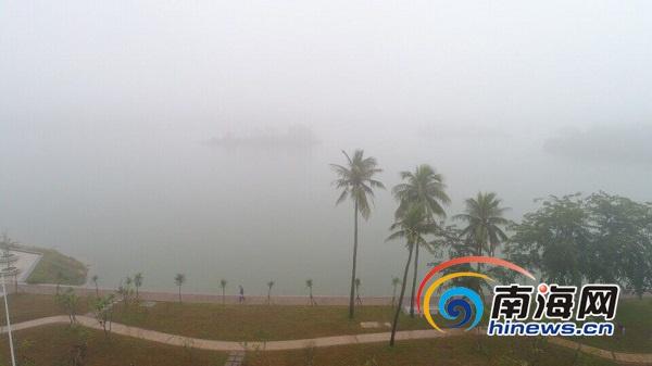 海口今晨为何浓雾弥漫气象专家释疑:浓雾将会持续到明早