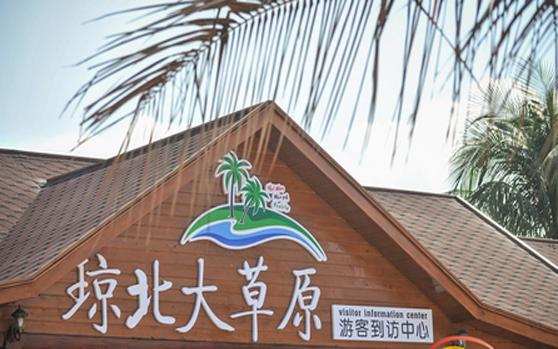 文昌琼北大草原项目吸引游客 盐碱地重现生机