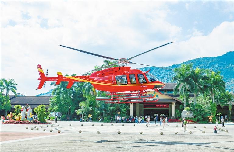 低空飞行旅游来了!游客可乘直升机遨游保亭雨林峡谷