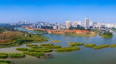 美景如画!航拍海口最大湿地公园――美舍河凤翔湿地公园