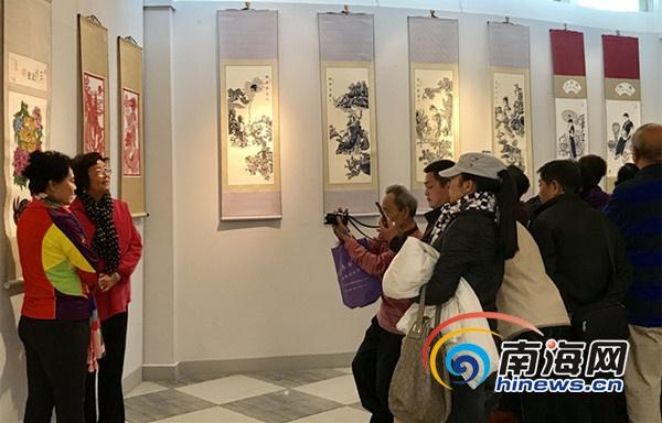 黑龙江流域多民族剪纸贴画作品巡展在三亚举行