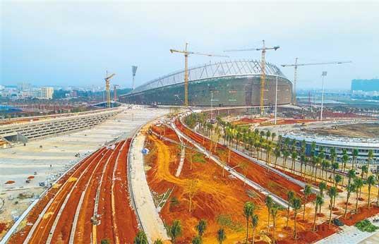 海口五源河体育场力保3月完工