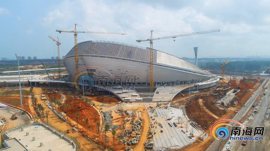 海南最大体育场即将完工 跟随镜头看看究竟长啥样