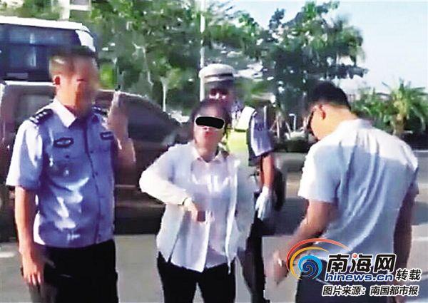 三亚电动车违规被查扣 女子语出惊人:交警送我上班