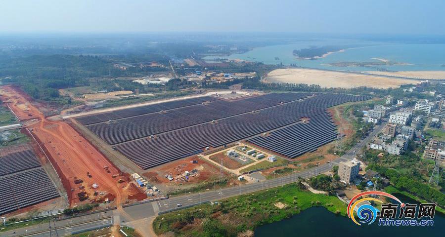 瞰海南| 航拍澄迈光伏电站 建成后每年节省标准煤1.4万吨