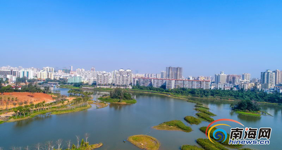美景如画!航拍海口最大湿地公园——美舍河凤翔湿地公园