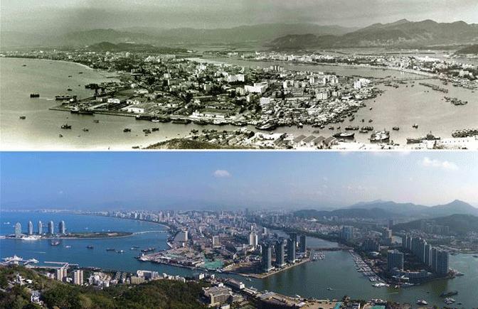 一组图看海南城市的变迁
