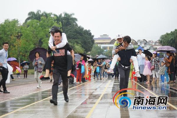 """海南琼中开展传统趣味体育比赛欢度""""三月三"""""""