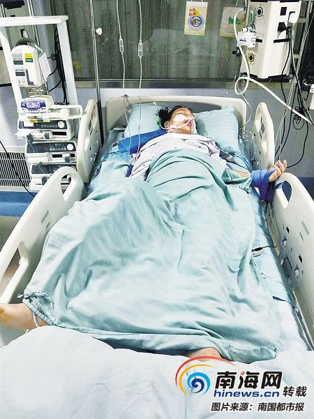 屯昌14岁留守女孩遇车祸重伤筹不到医药费 妈妈哭求:救救我的孩子