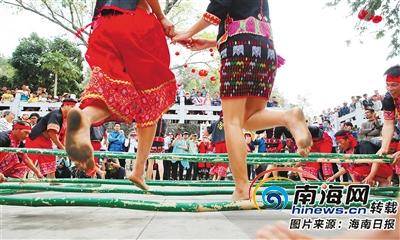 海南周刊|竹竿舞起源于海南黎族如今成海南民族歌舞的符号