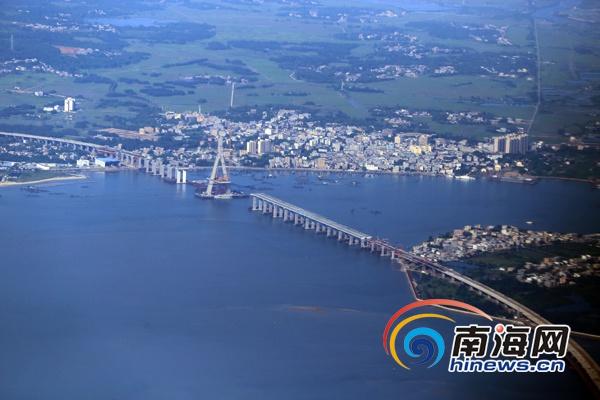 葡京官网真人游戏铺前大桥建设已完成总工程量80% 预计年底建成通车