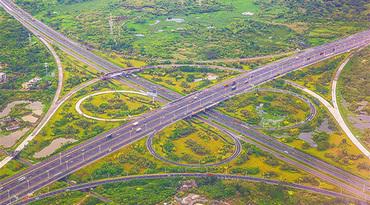 航拍 | 高空鸟瞰海口绕城高速一带交通路网