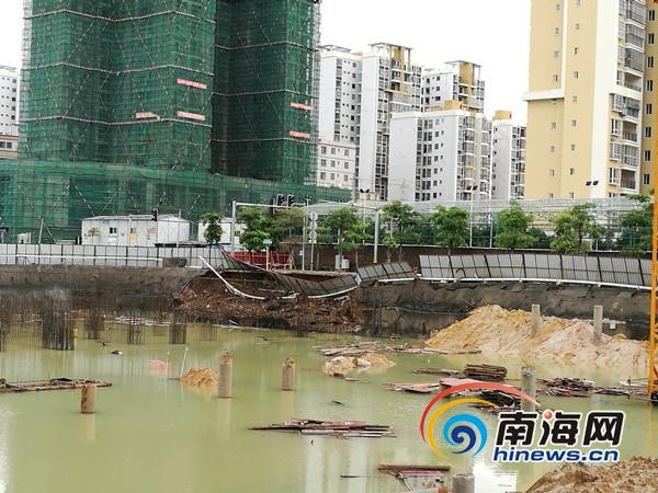 海口海濂路南段数百米有3处塌陷 住建部门介入调查