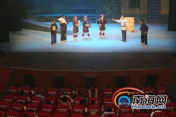 新编琼剧《母瑞红云》在海南戏院首演还赴京参加全国会演