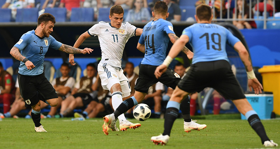 动感世界杯 | 乌拉圭队与俄罗斯队携手出线