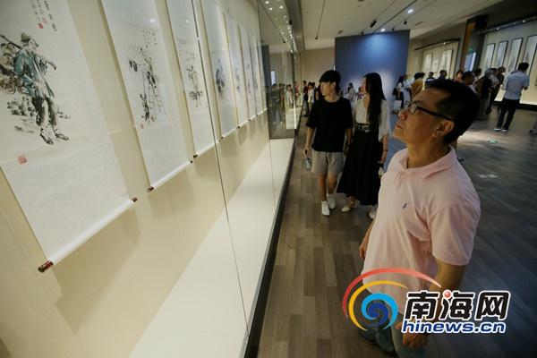 """""""水墨国粹""""绘画艺术展海口举办展出90幅国画精品"""