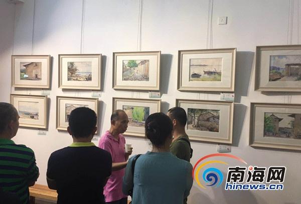 画家洪永锋水彩写生作品海口开展75幅作品诠释自然之美