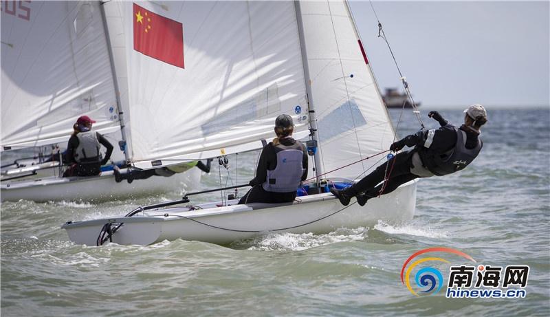 海南省第五届运动会帆船帆板比赛已完成5轮比赛