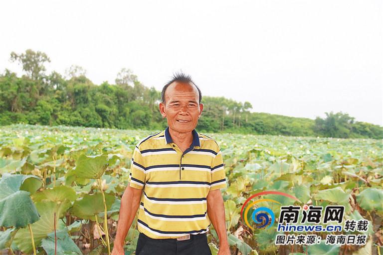<b>临高美香村党支部书记林昌平因地制宜带领村民发展荷花产业</b>