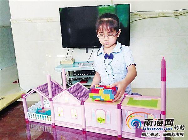 海南省委书记刘赐贵牵挂的视障患儿小诗琪能看能写了