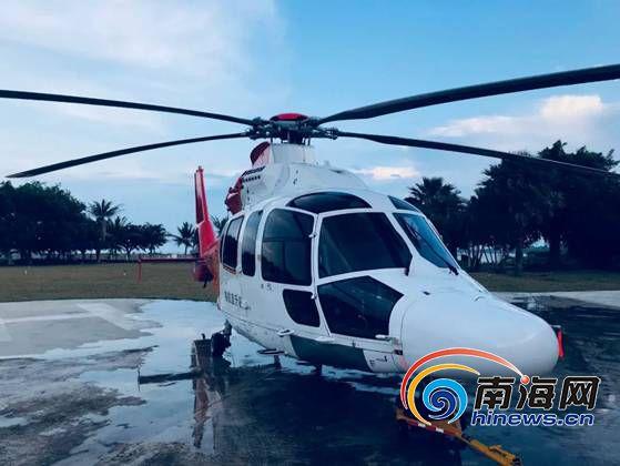 台风致琼州海峡三度停航 直升机飞行解决逾百旅客燃眉之急