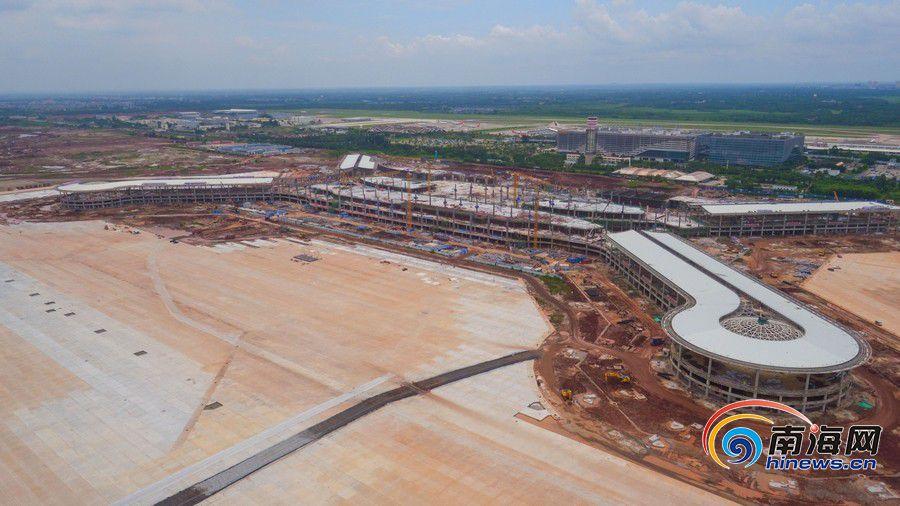 高清组图|航拍美兰机场二期项目 预计明年十月投入使用