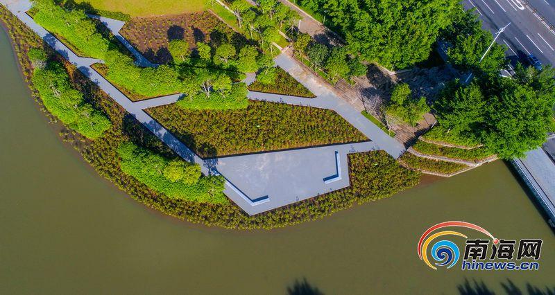 航拍| 经过一年多治理 海口美舍河水清岸绿美景重现